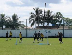 Pelada da comissão técnica do Botafogo (Foto: Thales Soares / globoesporte.com)