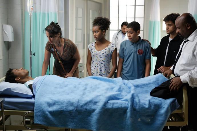 Familia de Wesley consegue visitar garoto (Foto: Pedro Carrilho / Gshow)