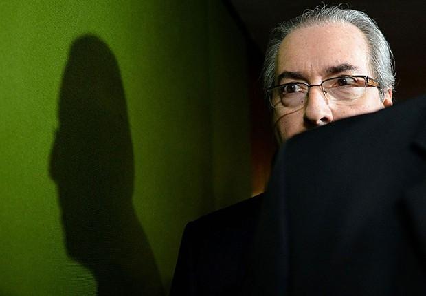 O presidente afastado da Câmara dos Deputados, Eduardo Cunha (PMDB-RJ), deixa o Congresso (Foto: Andressa Anholete/AFP/Getty Images)