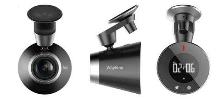 Câmera pode ser fixada no vidro e oferece sistema que seleciona automaticamente os melhores momentos de um passeio (Foto: Divulgação/Waylens)