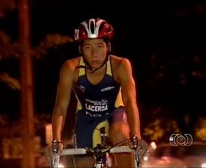 Yure tem rotina intensa de treinos (Foto: Reprodução/TV Anhanguera TO)
