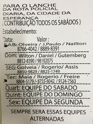 Panfleto era distribuído para comerciantes da Zona Oeste de Natal (Foto: Reprodução/Ministério Público do RN)