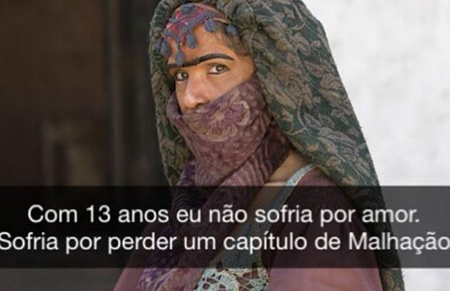 Madame Dalila, disfarce de Elvira (Ingrid Guimarães) em 'Novo Mundo', virou meme (Foto: Reprodução Instagram)