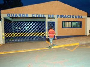 Base da Guarda Municipal de Piracicaba (Foto: Fernanda Zanetti/G1)