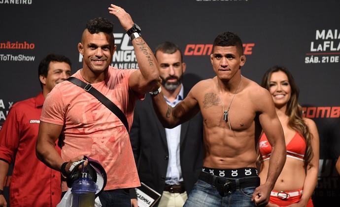 pesagem UFC - Vitor Belfort e Durinho (Foto: André Durão)