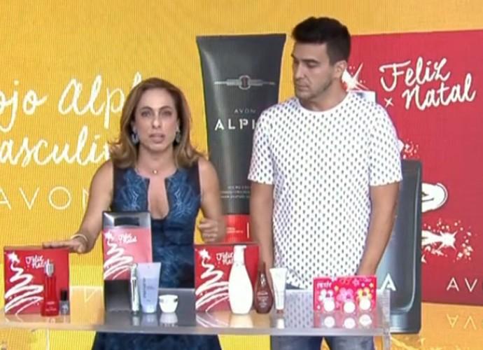 Cissa e André dão dicas de presentes (Foto: Divulgação/TV Globo)