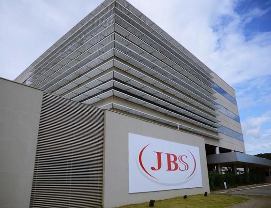 Fachada da empresa JBS em Itajaí ,Minas Gerais (Foto: Lucas Tavares/Folhapress)
