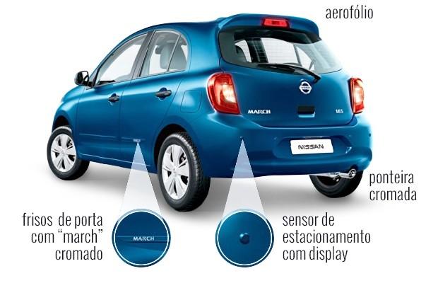 Nissan New March Opcionais  (Foto: Autoesporte )