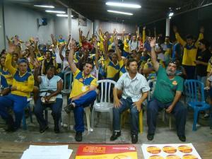 Assembleia ocorreu nesta quarta-feira (29) (Foto: Divulgação/SintcomPR)