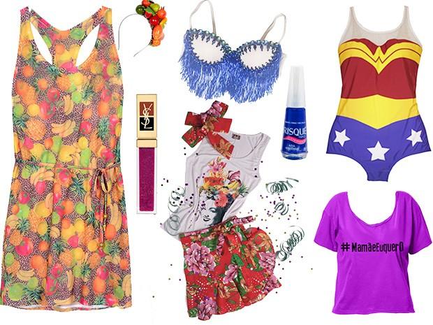 Produtos Carnaval (Foto: EGO)