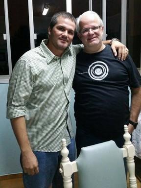 Ex-BBB Daniel Gevaerd com o pai, Ademar (Foto: Facebook / Reprodução)