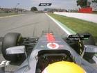 Hamilton faz melhor tempo, é punido e larga em último na Espanha