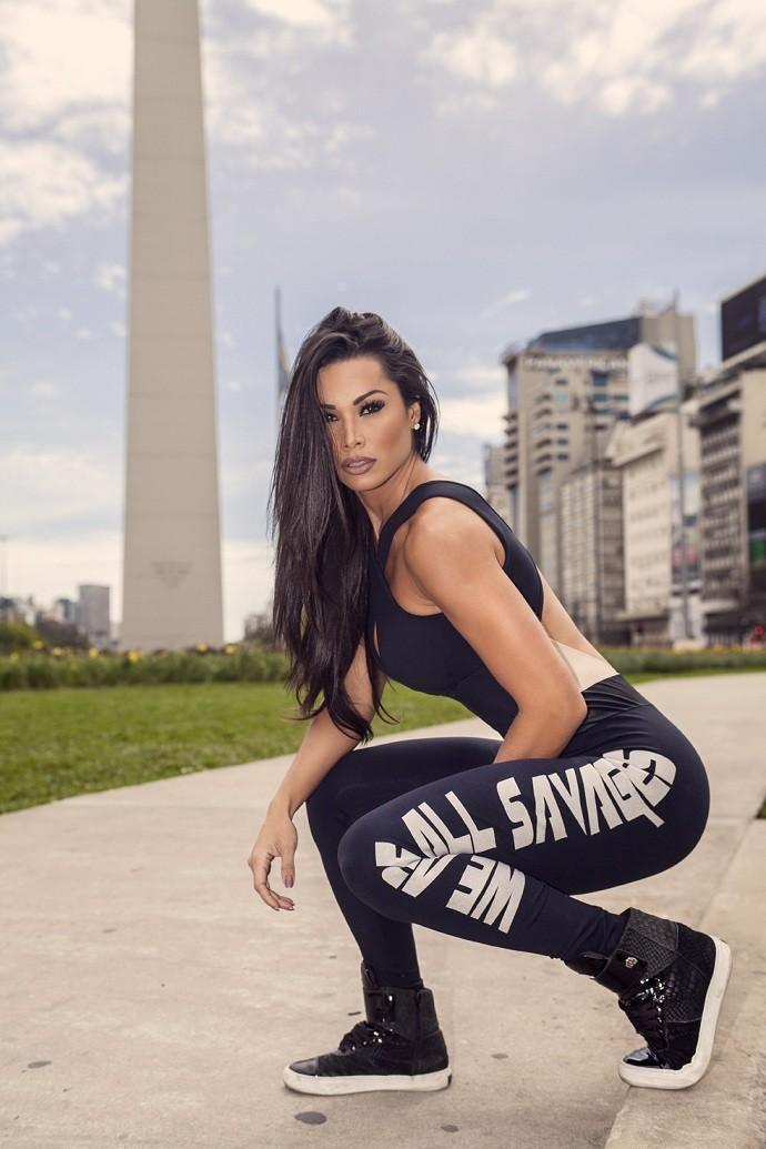 Fernanda D'avila na Argentina (Foto: Rogério Tonello/Divulgação)