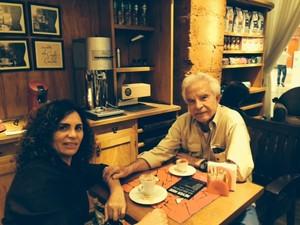 Cid Moreira com a mulher, Flávia Sampaio (Foto: Arquivo pessoal)