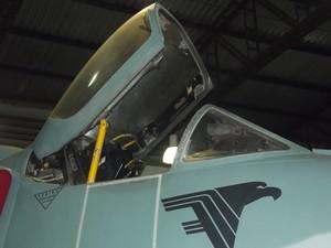 Piloto pode não ter conseguido sair da cabina do caça que caiu, segundo relato do piloto sobrevivente à Marinha (Foto: Rebeca Nascimento/G1)