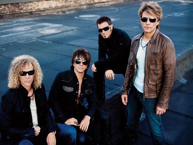 O grupo de hard rock americano Bon Jovi. (Foto: Divulgação)