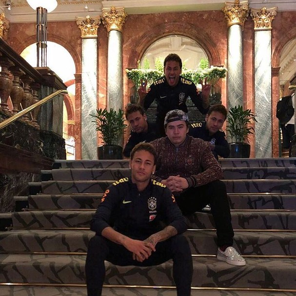 Neymar e Whindersson Nunes (Foto: Reprodução/Instagram)
