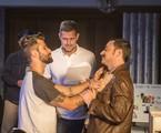 Bruno Gagliasso e Emilio Orciollo Netto são dirigidos por Leonardo Nogueira numa cena de 'Sol nascente' | Globo/ Mauricio Fidalgo