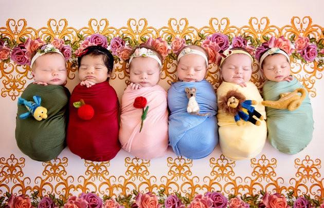 bebês princesas da disney (Foto: Karen Marie)