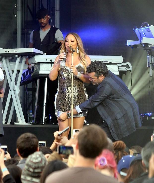 X17- Mariah Carey em programa de televisão em Los Angeles, nos Estados Unidos (Foto: X17online/ Agência)