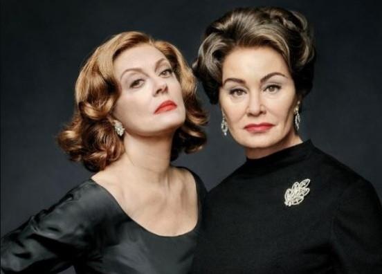 Susan Sarandon e Jessica Lange interpretam Bette Davis e Joan Crawford na série Feud (Foto: Reprodução)