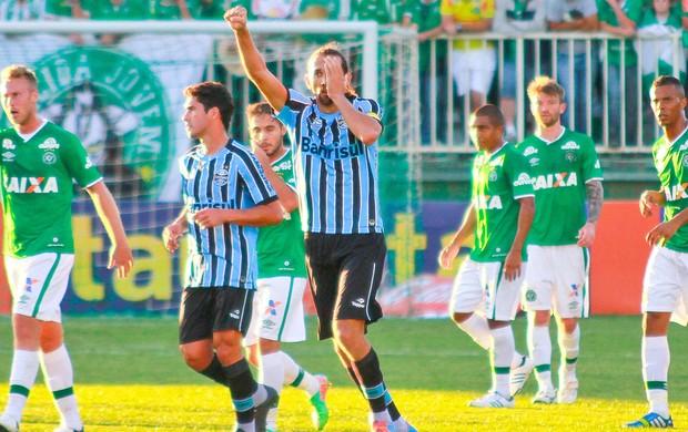 Barcos comemora, Chapecoense x Grêmio (Foto: Jardel da Costa/Futura Press)