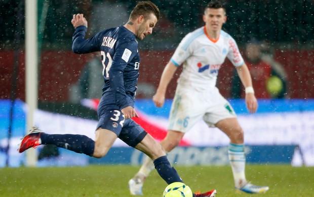 Beckham estreia, PSG x Olympique de Marselha (Foto: Reuters)