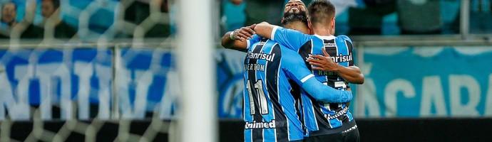 Grêmio x Ponte Preta Arena do Grêmio gol Everton (Foto: Lucas Uebel/Divulgação Grêmio)