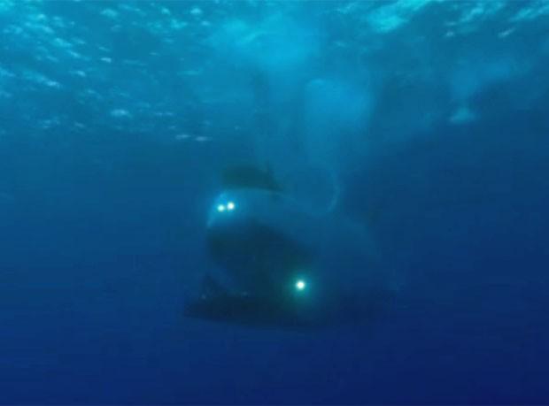 Imagem do submersível japonês que ajudou geólogos a reforçar indícios de que há um continente que estaria a 1.500 km da costa do Brasil (Foto: Reprodução/CPRM)