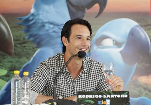 Rodrigo Santoro na coletiva do filme RIO 2 (Foto: Marcos Serra Lima/EGO)