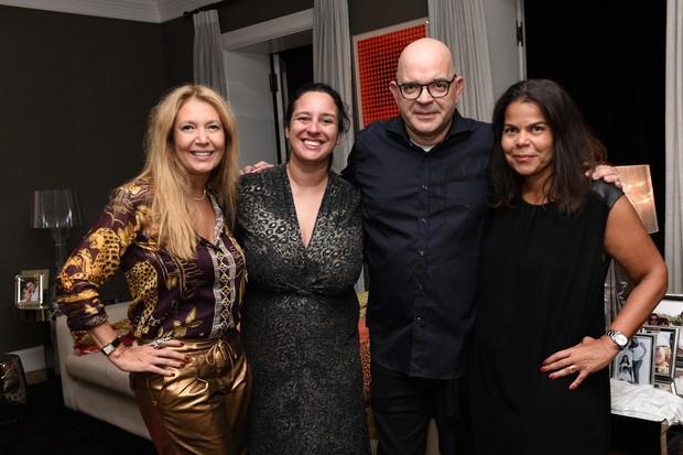 Donata Meirelles, Silvia Rogar, Giovanni Frasson e Daniela Falcão, da esquerda para a direita (Foto: Luciana Prezia)