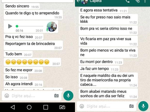 Suspeito De Agredir Ex Pede Desculpas Por WhatsApp