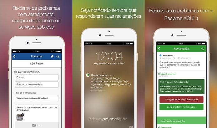 Reclame e resolva seu problema (Foto: Divulgação/AppStore)