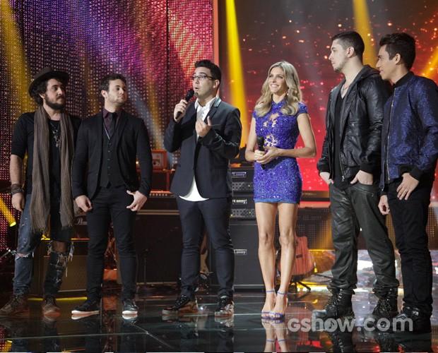 Banda Malta vence o Super Star. Palco (Foto: Pedro Curi / TV Globo)