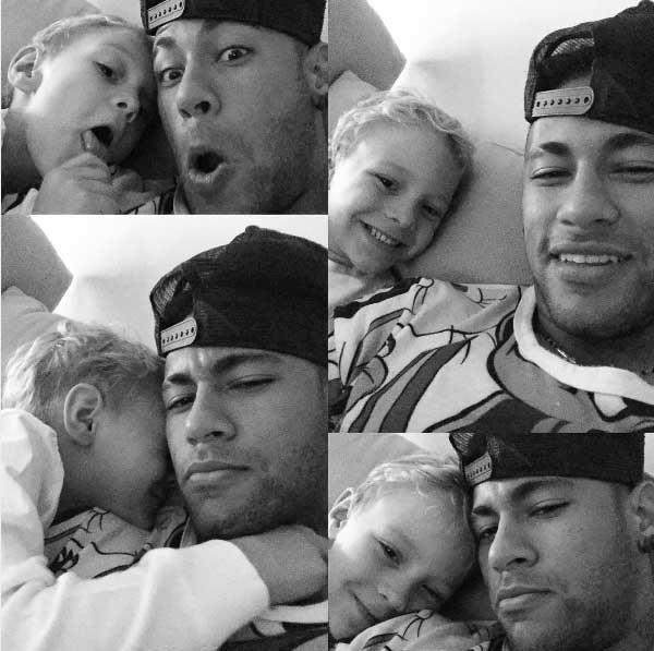Neymar e o filho: só amor (Foto: Reprodução - Instagram)