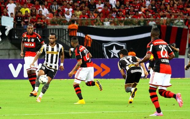 Carlos Alberto Botafogo x Flamengo (Foto: Edmar Barros / Ag. Estado)