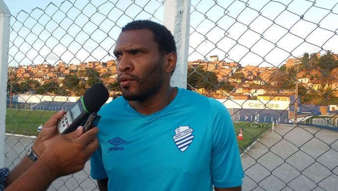 Daniel Cruz, atacante do CSA (Foto: Augusto Oliveira/GloboEsporte.com)