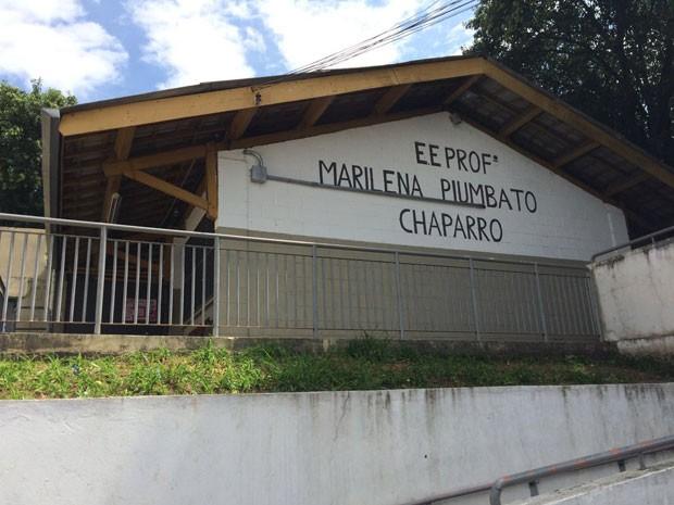 Escola Marilena P. Chaparro fica na Zona Oeste de São Paulo (Foto: Paula Paiva Paulo/G1)