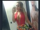 Com decote atraente, Geisy Arruda curte noite em Fortaleza