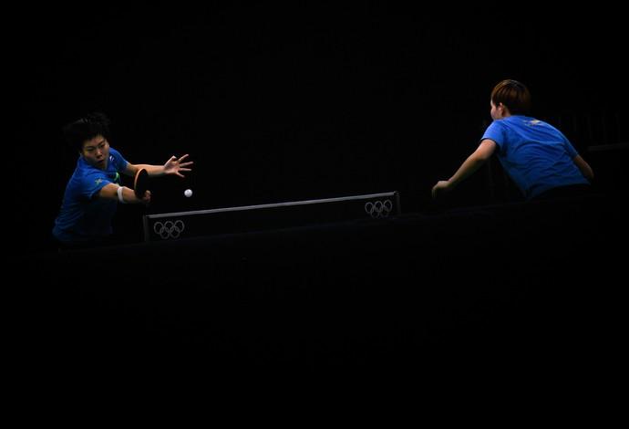 Treino China LI Xiaoxia e Ding Ning tênis de mesa Riocentro (Foto: David Ramos / Getty Images)