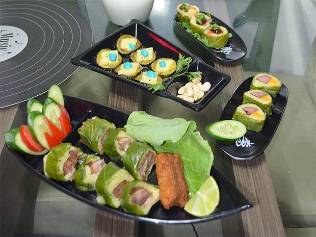 Os sushis são uma boa opção para servir de entrada aos convidados (Foto: Michel Montefeltro/ G1)