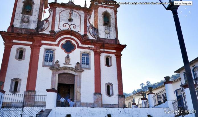 Cidade histórica de Ouro Preto possui passeios em 360º (Foto: Reprodução/Google Earth)
