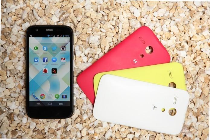 2028a0337 Moto G 2013 foi apresentado com Android e ótimo custo-benefício (Foto   Luciana