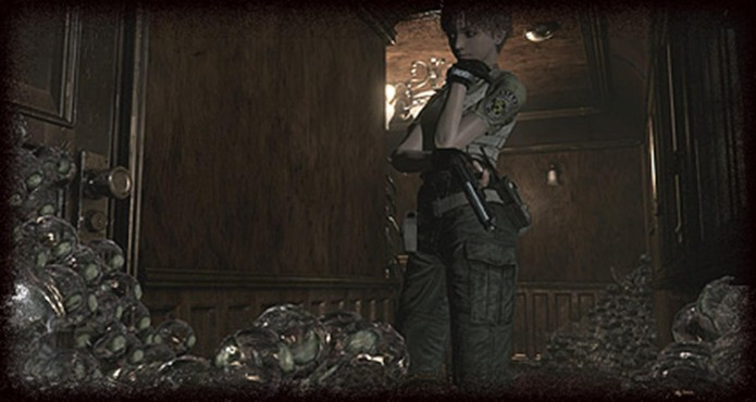 Resident Evil Zero HD Remaster: para eliminar as sanguessugas basta esmagá-las  (Foto: Divulgação/Capcom)