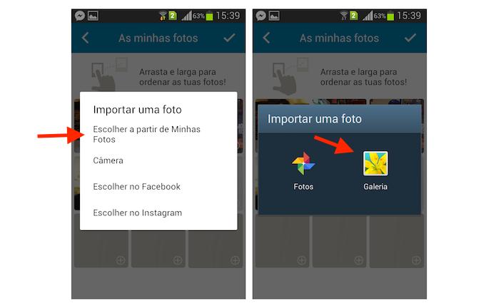 Acessando álbuns de fotos do Android para alterar a foto de perfil do Happn (Foto: Reprodução/Marvin Costa)