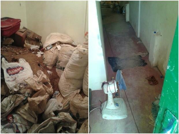 Residência estava locada para quadrilha desde janeiro, segundo a polícia (Foto: Divulgação/Polícia Militar)