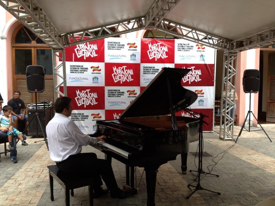 Piano no museu: apresentação no Museu Cruz e Souza (Foto: Maratona Cultural)