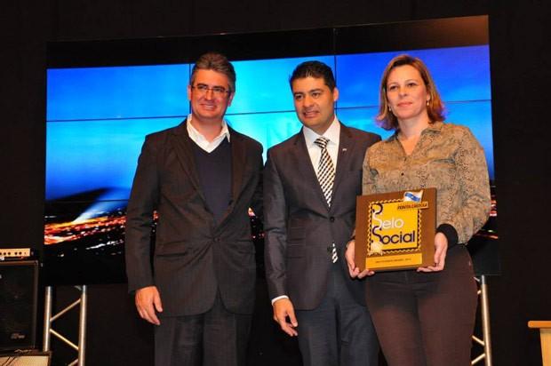 O Instituto GRPCom representou a emissora no evento de premiação (Foto: Divulgação/RPC TV)