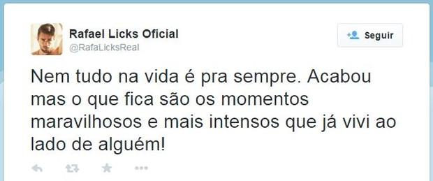 Rafael Licks (Foto: Twitter / Reprodução)