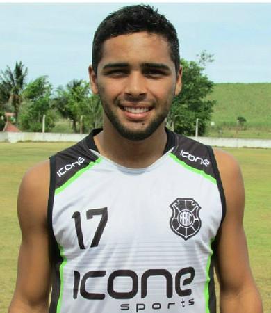Diego Soares, meia do Rio Branco-ES (Foto: Montagem em fotos de Deysiane Gagno e Sidney Magno Novo)
